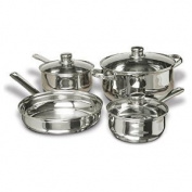Heavy Duty Concord Cookware SAS1700S 7-Piece Stainless Steel Cookware Set includes Pots and Pans