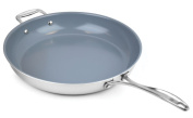 Zwilling J.A. Henckels Spirit Stainless Steel Ceramic Nonstick Skillet with Helper Handle 36cm