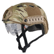 OSdream PJ FAST Type Tactical Fast Helmet w/ Protective Goggles Low Price Version CP Camo
