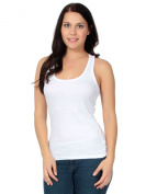 Simplicity Knit Racerback Tank Top w/ Sexy See Through Crochet Back