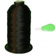 Item4ever® Black Bonded Nylon Sewing Thread #92 T90 1850 Yard for Outdoor, Leather, Upholstery + Threader