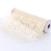 10 Yards of Vintage Inspired Ivory Floral Lace with Scalloped Edge for Embellishing, Crafting and Creating