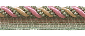 Large Dusty Rose, Pastel Green, Lt Gold 1.1cm Imperial II Lip Cord Style# 0716I2 Colour