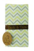 Zack & Tara Crib Skirt - Chic Chevrons in Yellow & Grey