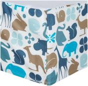 Gio Percale Crib Skirt- Aqua