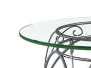 90cm Inch Round 0.6cm Inch Thick, Flat Polished Edge, Tempered Glass Table Top