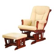 Athena AFG Sleigh Glider Chair, Cherry