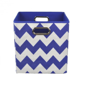 Modern Littles Folding Storage Bin, Bold Blue Chevron