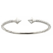 Thick Pyramid Ends .925 Sterling Silver West Indian Bangle