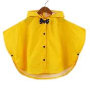 Toddler Rain Day Outerwear Baby Rain Jacket Infant Raincoat YELLOWBowknot S 2-3Y