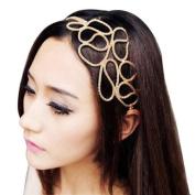 Women's Metallic Elastic Stretch Hair Band Headband