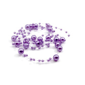 Pearl Synthetic Head Chain Hair Decorative Party Wedding Bridal Headpiece Purple