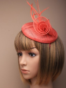 Allsorts® Coral Hat Headband Fascinator Wedding Ladies Day Race Royal Ascot