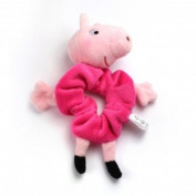 Girls Peppa Pig Large Pink Hair Scrunchie Bobble