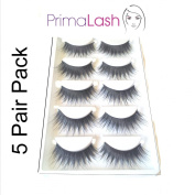PrimaLash 5 Pairs False Eyelashes 102 full volume, feathered, wispy, long lashes Value Pack