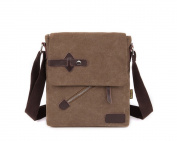 New Style Vintage Casual Canvas Cross Body Everyday Leather Satchel Bag Messenger Shoulder Bag Business Bags