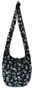 Hippie Bags Purse Black Skull & Crossbones Medium Ladies Hippy Hobo Festival Beach Summer