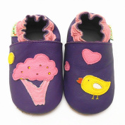 Sayoyo Baby Tree Bird Soft Sole Leather Infant Toddler Prewalker Shoes