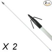 90cm Archery Bow Fishing Fish Hunting Arrow head with Black Torpedo Tip x 2