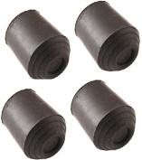 "4 Rubber Walking Stick Ferrules 19mm 3/4"" Cane Crutch Pad Rubber Heavy Duty Bottom"