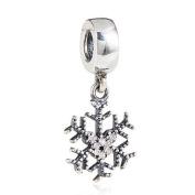 Mickey Snowflake - Dangle Sterling Silver Charm Bead - Spanglebead