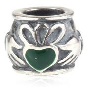 Claddagh Heart - Sterling Silver Charm Bead - Spanglebead