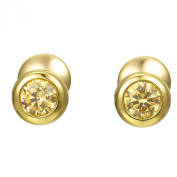 Joop! Women's Stud Earrings 925 Sterling Silver Partially Gold-Plated with Cubic Zirconia gold JPER90313B000