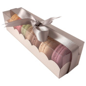 Macaron boxes with clear sleeve - can hold 7 macaroons