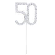 Homgaty Sparkly Cake Topper Decoration For 50th Wedding Anniversary Birthday Party