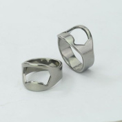 2 x Triscor Stainless Steel Bottle Opener Ring with 22 MM, Stainless Steel and 24 MM