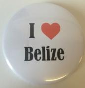 I Love (Heart) Belize 59mm Magnetic Bottle Opener