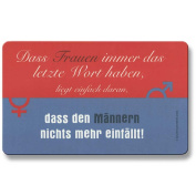 Gilde Inkognito Breakfast Board with German Text 'das Women's always the last word 23 x 14 CM