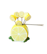 Fashion Creative Gifts A Half Of Lemon Fruit Forks Dessert Forks 1 Set