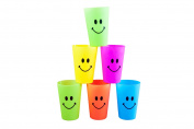 "Happy Smile ""Kids Cups"" Set of Six, Reusable and washable"