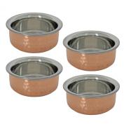 Tableware Set of 4 Serving Bowls Utensils Indian Dinnerware