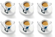 6 X Lavazza Espresso Cups and Saucers-Capacity cc 75, height mm 58