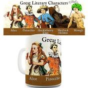 Great Literary Characters Ceramic Office Coffee Tea Mug