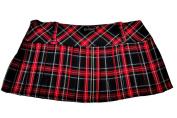 Tartan Mini Skirt 12in length (30.5cm) by Crazy Chick
