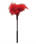 Sex & Mischief Feather Tickler Red   Adult Fun   Role Play