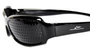 HealthPanion Pinhole Glasses for Eyesight Strengthening - Unisex Black