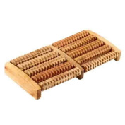 SystemsEleven Wooden Foot Feet Roller Wood Care Massage Reflexology Relax Relief Massager Spa