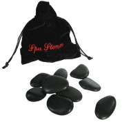 9 MASSAGE STONES ROCKS HEAT THERAPY IN POUCH TREATMENT SPA RELAX MOOD HOT COLD