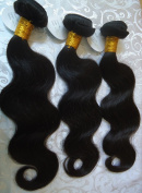 "Brazilian Virgin 100% Unprocessesd Human hair Extension Body Wave 5A 1B 3Pacs 14""16""18"""