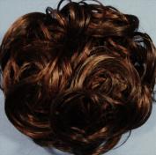 KATIE 18cm Pony Fastener Hair Scrunchie 6-30 Dark Chestnut Brown-Auburn