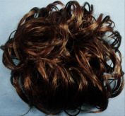 LACEY 7.6cm Pony Fastener Hair Scrunchie 6-30 Dark Chestnut Brown-Auburn