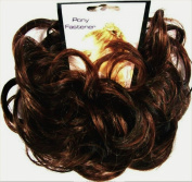 LACEY 7.6cm Pony Fastener Hair Scrunchie 4-30 Dark Brown-Auburn