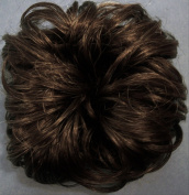 LACEY 7.6cm Pony Fastener Hair Scrunchie 36 Brown with 10% Grey