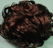LACEY 7.6cm Pony Fastener Hair Scrunchie by Mona Lisa 33 Dark Auburn