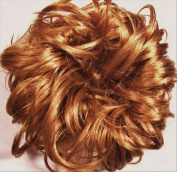 LACEY 7.6cm Pony Fastener Hair Scrunchie by Mona Lisa 27C Light Ginger