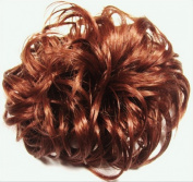 LACEY 7.6cm Pony Fastener Hair Scrunchie by Mona Lisa 130 Copper Red